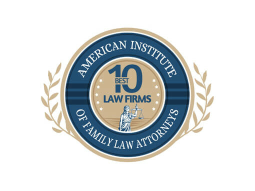 American Institute of Family Law Attorneys 10 Best Law Firms Priest Law Firm Recipient