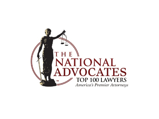 National Advocates Top 100 Lawyers Priest Law Firm Recipient